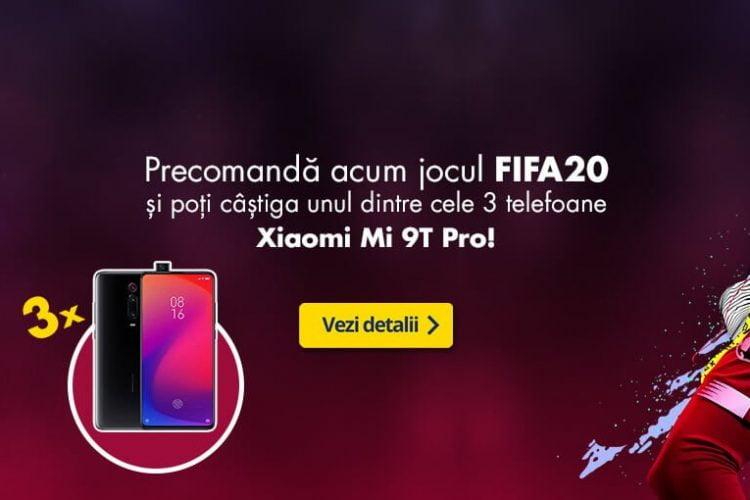 Flanco - Precomanda FIFA20 si poti castiga un smartphone Xiaomi Mi 9T Pro