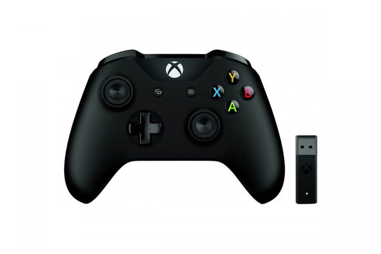 Gamepad Microsoft Xbox One Wireless Controller Black + Wireless Adapter v2