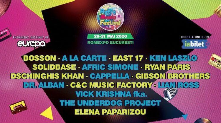 Retro Music Festival - Bucuresti, 29-31 mai 2020