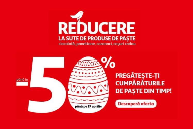Auchan - pana la 50% reducere la sute de produse de Paste