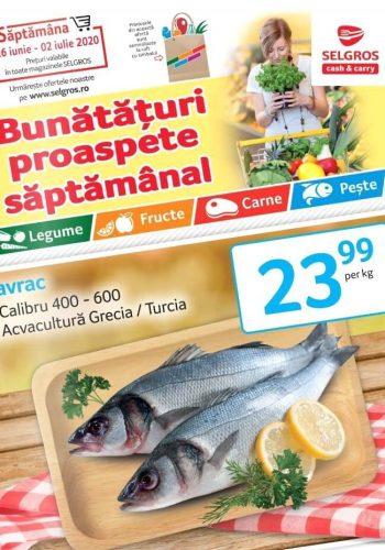 Catalog Selgros 26 iunie - 2 iulie 2020 - Bunataturi proaspete saptamanal nr. 27 (promovare exclusiv online)