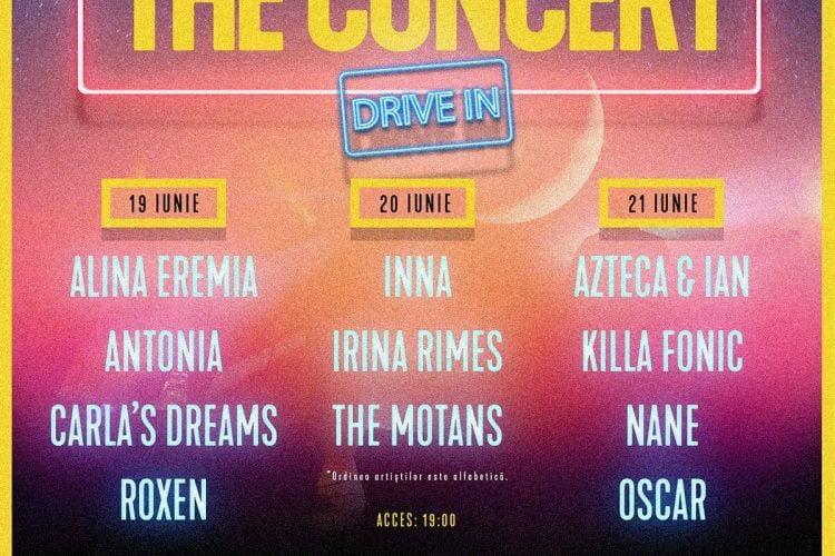 The Concert - Drive In - Romexpo, Bucuresti, 19-21 iunie 2020