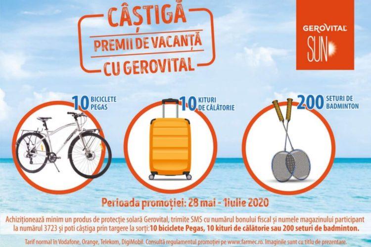 Farmec - Campanie nationala Gerovital Sun! Castiga o bicicleta Pegas, un kit de calatorie sau un set de badminton!