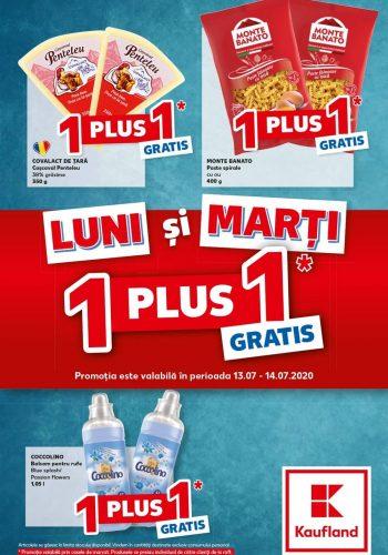 Catalog Kaufland Ofertele de luni si marti - 1+1 gratis - Luni si marti economisesti in plus 13 iulie - 14 iulie 2020