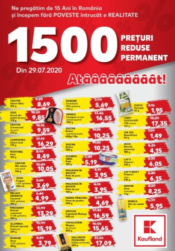 Catalog Kaufland - Preturi reduse permanent 29 iulie - 4 august