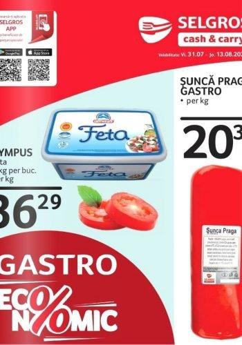 Catalog Selgros 31 iulie - 13 august 2020 - Catalog Gastro Economic nr. 32-33 (promovare exclusiv online)