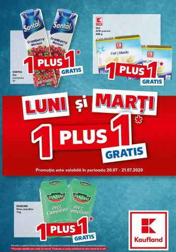 Catalog Kaufland Ofertele de luni si marti - 1+1 gratis - Luni si marti economisesti in plus 20 iulie - 21 iulie 2020