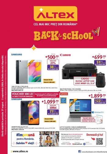Catalog Altex 27 august - 2 septembrie 2020 Back to School