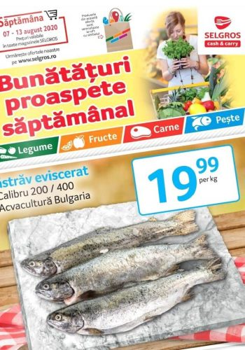 Catalog Selgros 7 august - 13 august 2020 - Bunataturi proaspete saptamanal nr. 33 (promovare exclusiv online)