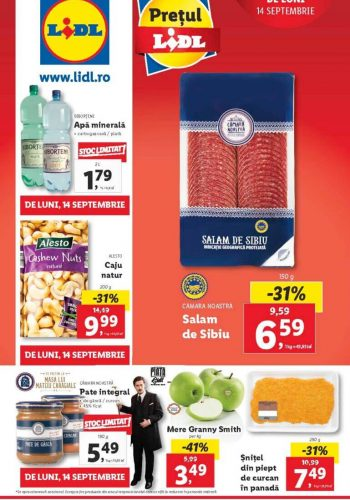 Catalog Lidl 14 septembrie - 20 septembrie 2020