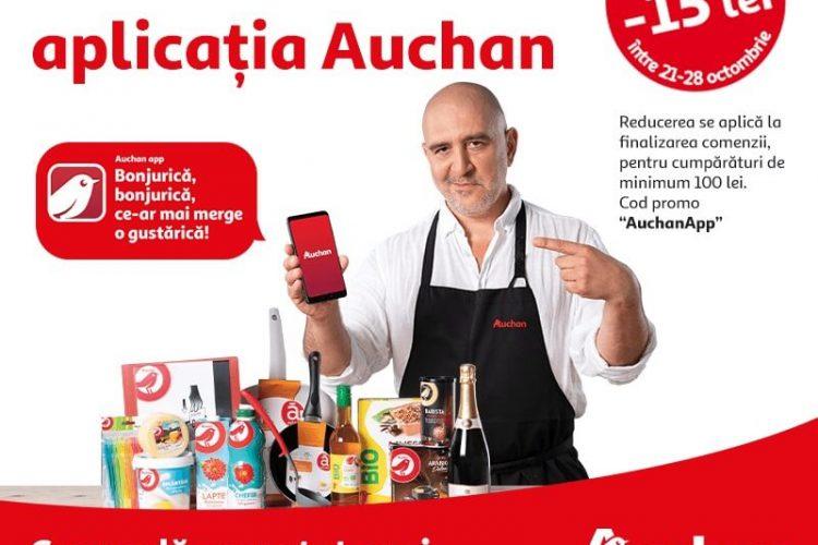 Voucher Auchan - 15 lei reducere pentru cumparaturi de minimum 100 lei