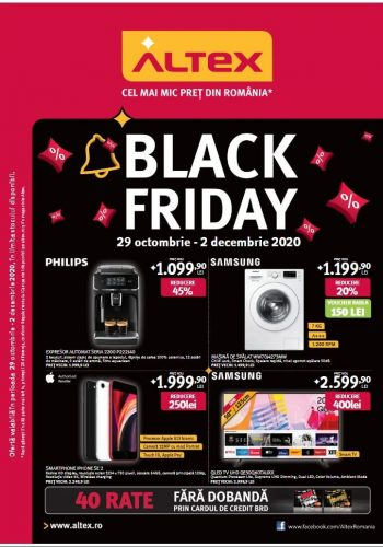 Catalog Altex 29 octombrie - 2 decembrie Black Friday 2020