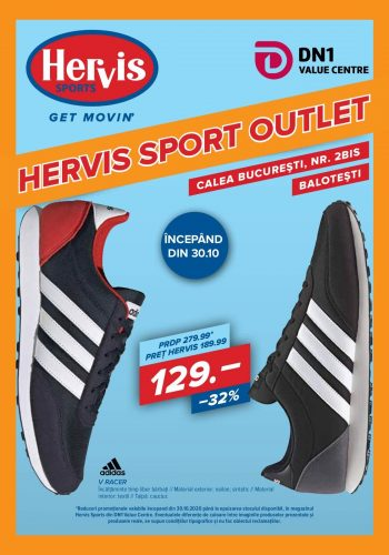 Catalog Hervis Outlet - din 30 octombrie 2020