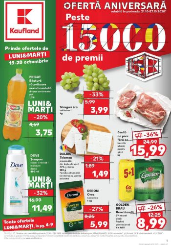 Catalog Kaufland 21 octombrie - 27 octombrie 2020