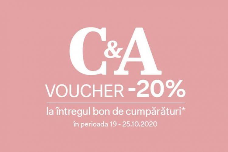 Voucher C&A - 20% reducere la intregul bon de cumparaturi