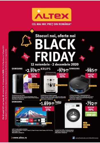 Catalog Altex 12 noiembrie - 2 decembrie Black Friday 2020