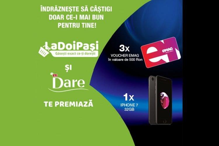 LaDoiPasi - Indrazneste sa castigi cu La Doi Pasi doar ce-i mai bun pentru tine - Castiga un voucher eMag sau un Apple Iphone 7!