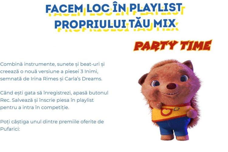 Lidl - Facem loc in playlist propriului tau mix cu Pufarici - Castiga un set karaoke, tableta, boxa portabila sau casti wireless!