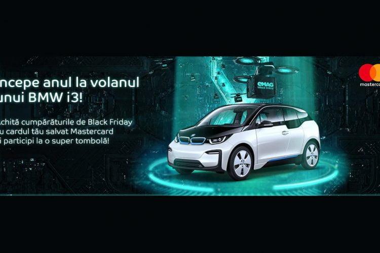 eMAG - Salveaza si plateste cu cardul tau Mastercard sau Maestro in ziua de Black Friday si poti castiga o masina electrica!