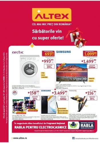 Catalog Altex 17 decembrie - 23 decembrie Sarbatorile vin cu super oferte