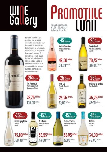Catalog Mega Image - Revista Wine Gallery 7 ianuarie 2020 - 3 februarie 2021