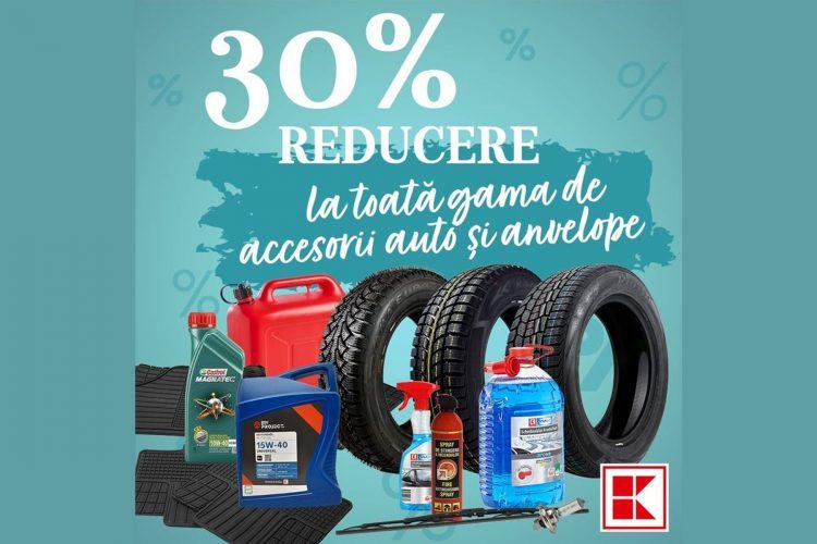 Oferta Kaufland - 30% reducere la gama de accesorii auto si anvelope