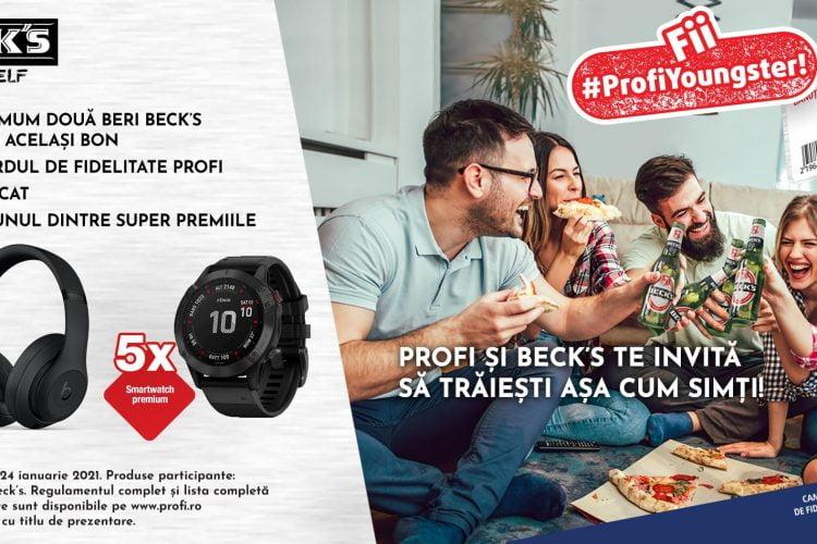 Profi si Beck's te invita sa traiesti asa cum simti! Castiga casti wireless Beats Studio 3 sau smartwatch Garmin Fenix 6 Pro
