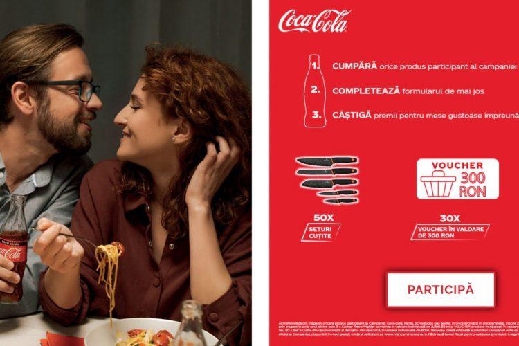 Auchan - Coca-Cola - Castiga premii pentru cele mai reusite mese in familie - Castiga un set cutite, un voucher de 300 lei sau un frigider!