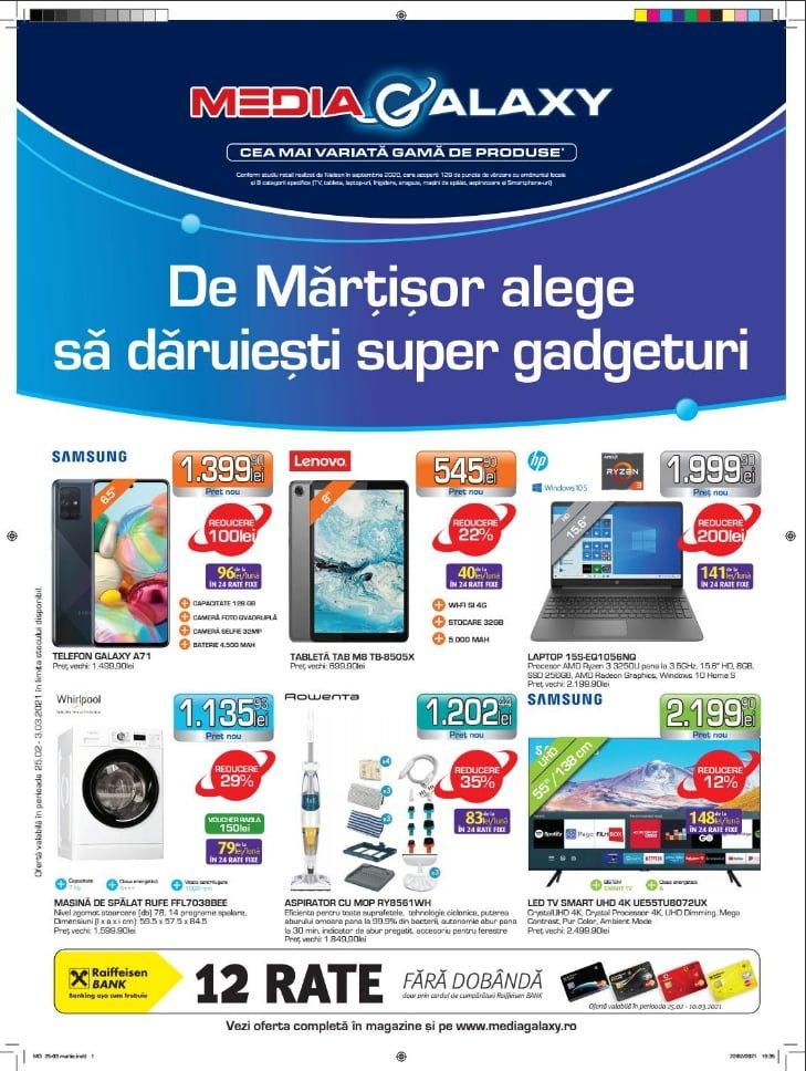 Catalog Media Galaxy 25 februarie - 3 martie 2021 - De martisor alege sa daruiesti super gadgeturi