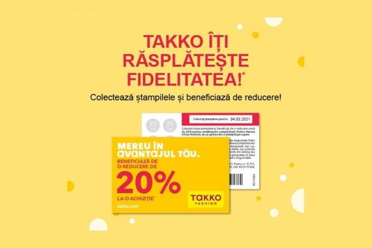 Cupon Takko Fashion - 20% reducere la o achizitie