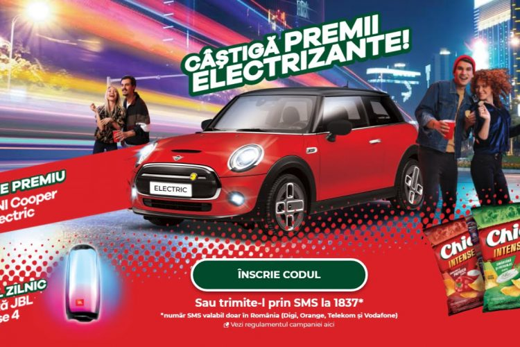 Chio - Castiga premii electrizante! Castiga o boxa JBL Pulse 4 sau un Mini Cooper Electric!
