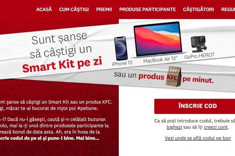 KFC - Smart Menu - Castiga un produs KFC pe minut sau un premiu Smart Kit pe zi!