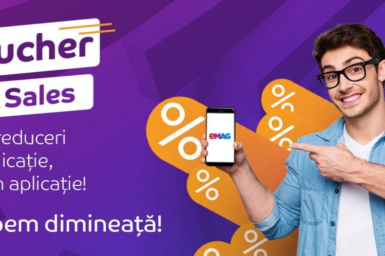 Voucher Sales eMAG - Pana la 30% reducere la o selectie de produse pentru comenzile trimise din aplicatie