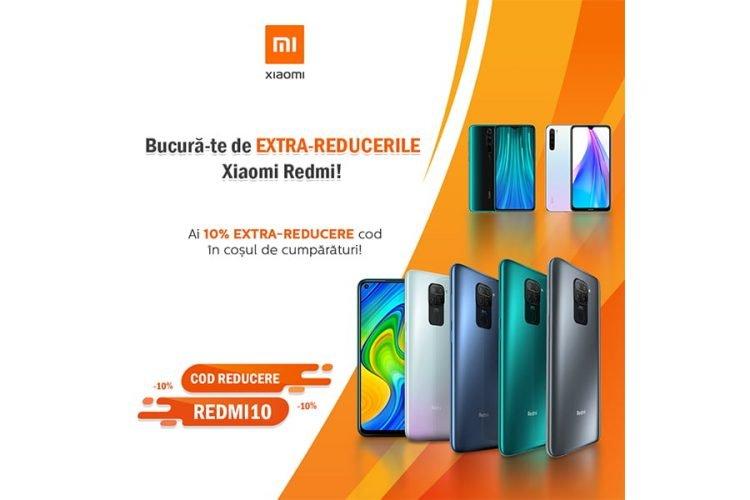 Voucher evoMAG - 10% extra-reducere la telefoanele Xiaomi Redmi