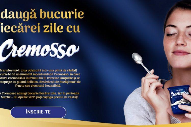 Adauga bucurie fiecarei zile cu Cremosso - Castiga o boxa inteligenta, un aparat de cafea Nespresso sau un sistem home cinema!