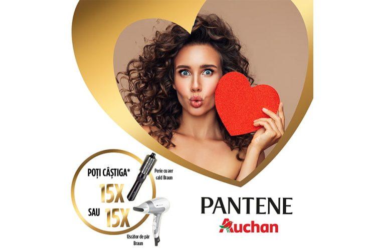 Auchan - Nu renunta la dragostea pentru parul tau! Castiga o perie de par Braun sau un uscator de par Braun!