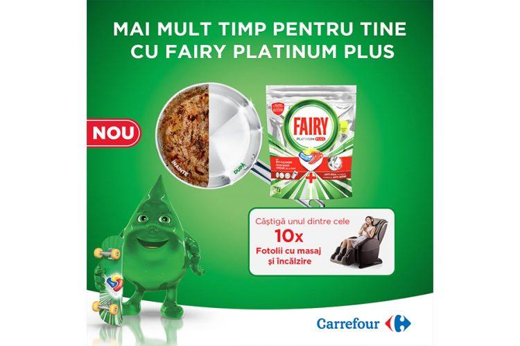 Carrefour - Timp pentru tine cu Fairy Platinum Plus - Castiga un fotoliu cu masaj si incalzire!