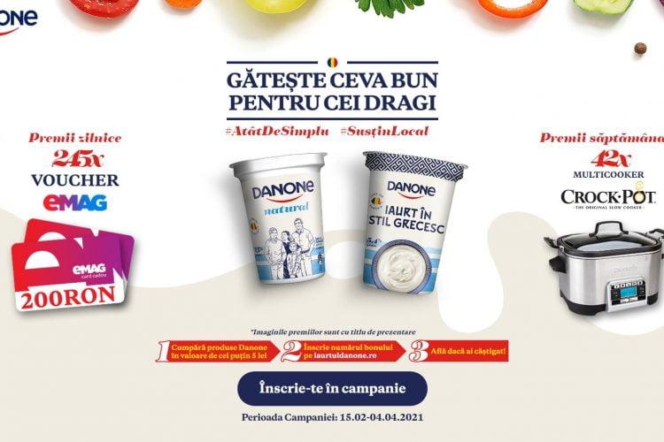 Danone - Gateste ceva bun pentru cei dragi - Castiga un voucher eMAG sau un multicooker CROCK POT!