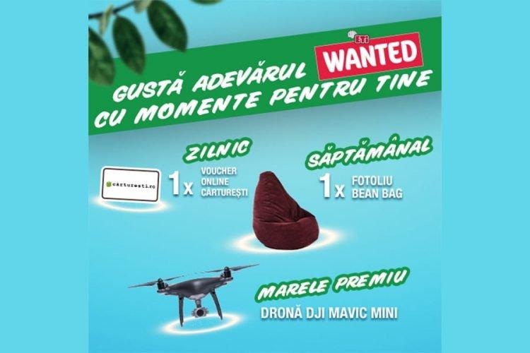 Mega Image - Gusta Adevarul Wanted cu Momente pentru tine - Castiga un voucher Carturesti, un fotoliu Pufrelax sau o drona Mavic Mini!