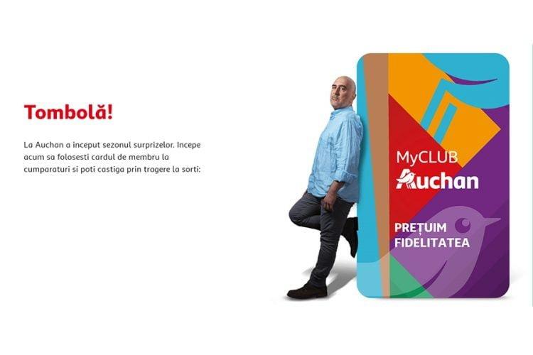 MyCLUB Auchan - Castiga toate cumparaturile inapoi, 100 lei, 100 euro sau 10000 euro!