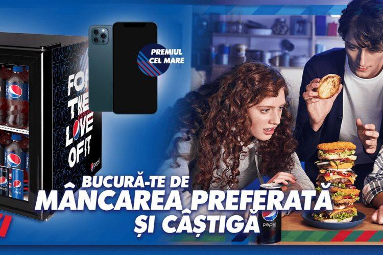 Pepsi - Bucura-te de mancare preferata si castiga un minifriger Pepsi!