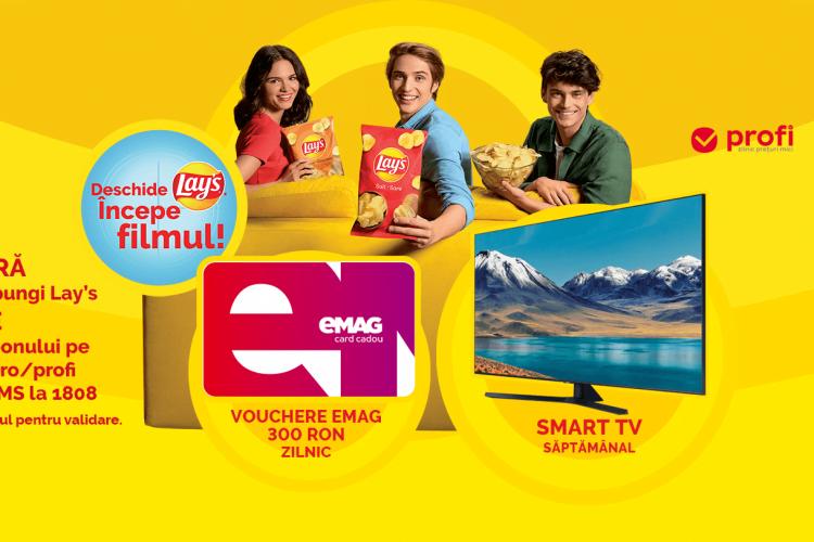 Profi - Lay's Movie - Castiga un smart TV sau un card cadou eMAG!