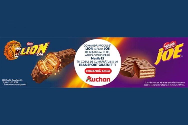 Voucher Auchan - comanda produse Lion/Joe si ai transport gratuit