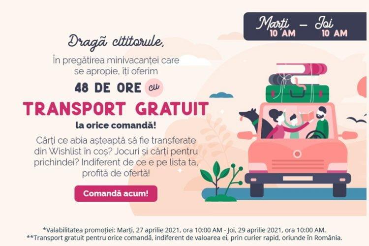 Libris - Transport gratuit la orice comanda - 27-29 aprilie 2021