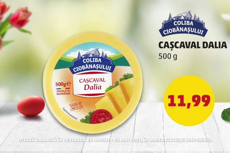 Oferta Penny - Cascaval Dalia Coliba Ciobanasului si Lapte Boni - 28 aprilie - 4 mai 2021