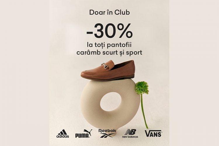 Voucher CCC - 30% reducere la toti pantofii caramb scurt si sport