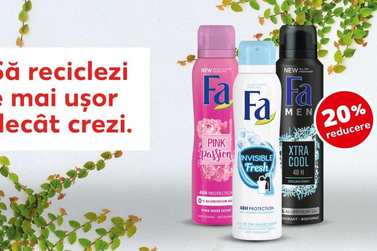 Voucher Kaufland - 20% reducere pentru toata categoria FA deo spray 150 ml