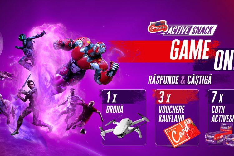 Campofrio - Game ON! Castiga o cutie Active Snack, un voucher Kaufland sau o drona!