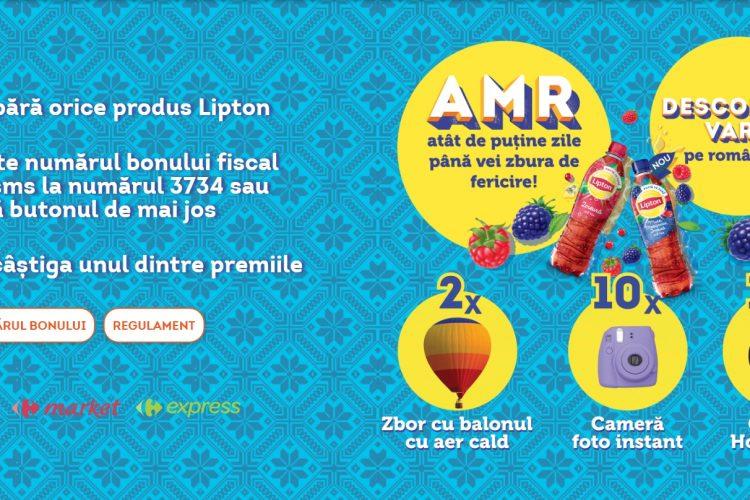 Carrefour - Lipton Taste of Romania - Castiga un zbor cu balonul, o camera foto instant sau un Google Home Mini!