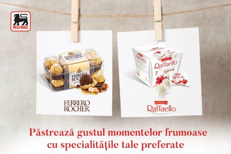 Mega Image - Ferrero Rocher si Raffaello - Pastreaza gustul momentelor frumoase cu specialitatile tale preferate!